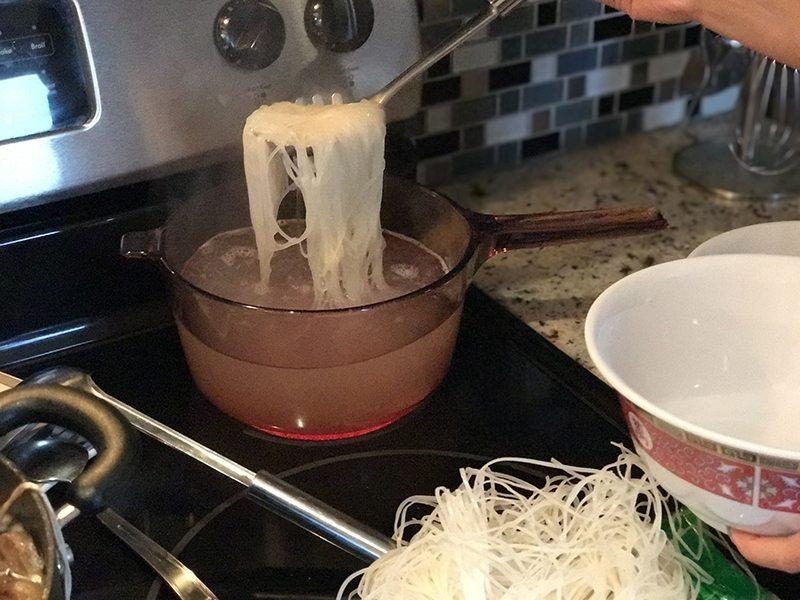 boiling noodle
