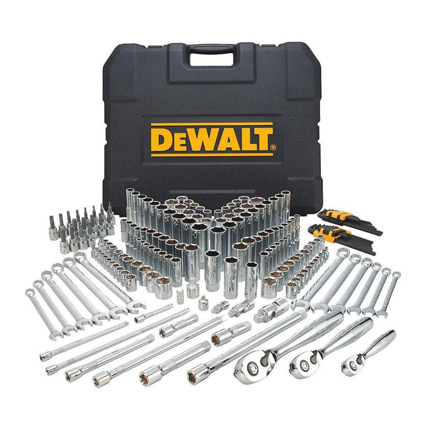 DEWALT Mechanics Tool Kit and Socket Set, 204 Pieces