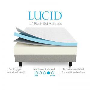 LUCID 12 Inch Gel Memory Foam Mattress-2